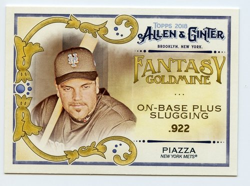 Photo of 2018 Topps Allen and Ginter Fantasy Goldmine #FG44 Mike Piazza