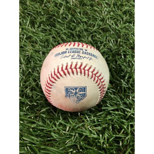 Photo of 20th Anniversary Game Used Baseball: Jean Segura double off Matt Andriese - June 8, 2018 v SEA