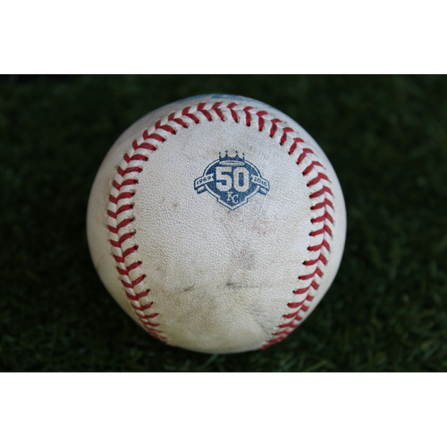 Photo of Game-Used Baseball: Scooter Gennett 647th Career Hit (CIN @ KC - 6/13/18)