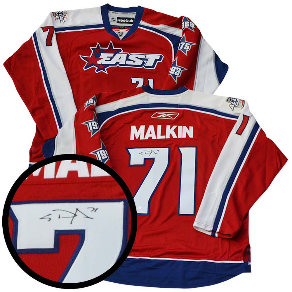 Evgeni Malkin Signed Jersey Allstar Replica 2009 Red