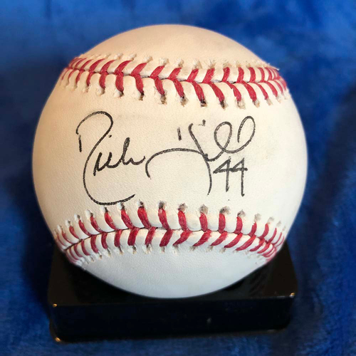 UMPS CARE AUCTION: Rich Hill Signed Baseball