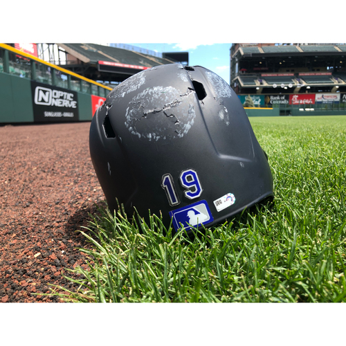 Photo of Colorado Rockies Team-Issued Batting Helmet - Charlie Blackmon