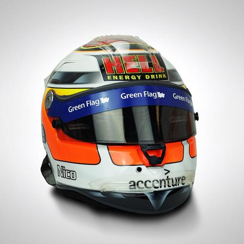 Photo of Nico Hulkenberg 2010 Race-used Helmet