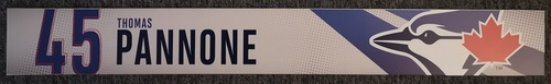 Photo of Authenticated Game Used Locker Name Plate: #45 Thomas Pannone (2019 Regular Season)
