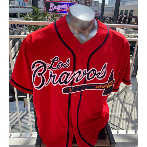 Photo of Adeiny Hechavarria MLB Authenticated Game Used Los Bravos Jersey (Size 46) - Used 9/6/2019 vs. WAS