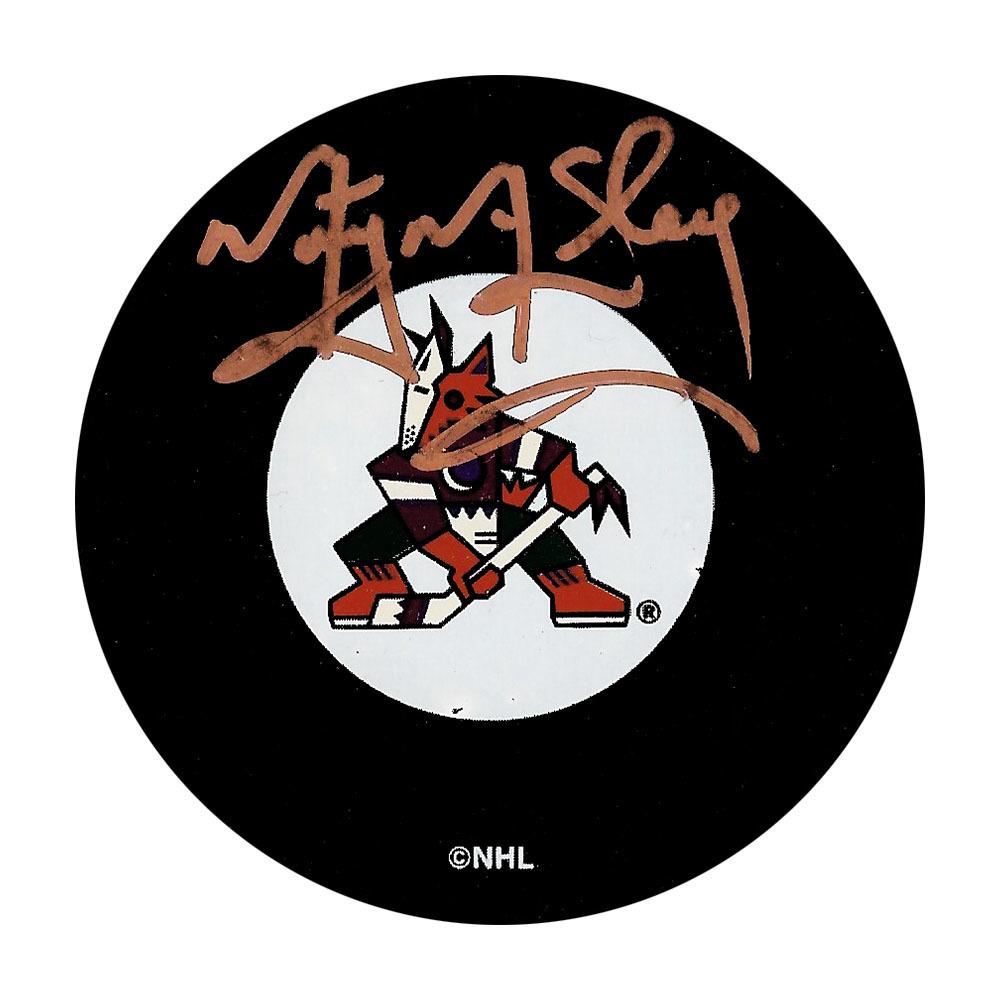 Marty McSorley Autographed Arizona Coyotes Puck