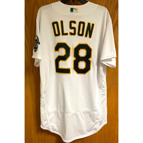 Photo of Matt Olson Game-Used Jersey; 2021 Opening Day 4/1/21