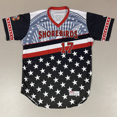 Patriotic Game Worn Autographed Jersey #17 Size 46 Connor Pavolony