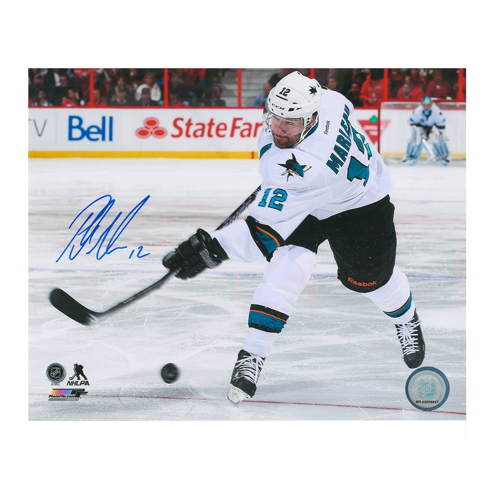 PATRICK MARLEAU Signed San Jose Sharks 8 X 10 Photo - 70510