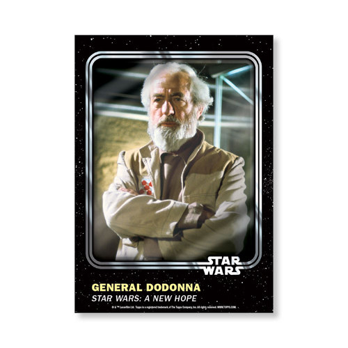 General  Dodonna 2016 Star Wars Card Trader Base Poster - # to 99