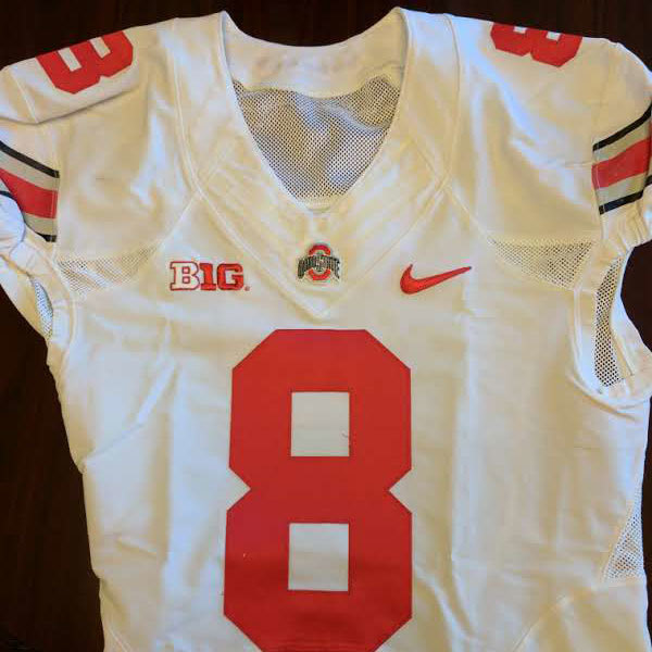 Photo of Authentic Ohio State Scarlet Football Jersey (#8)