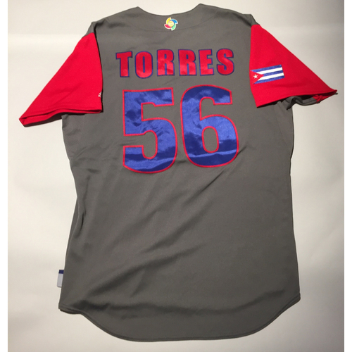 2017 WBC: Cuba Game-Used Road Jersey, Torres #56