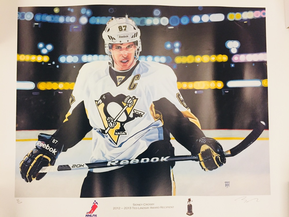 Limited edition, autographed Sidney Crosby Print  91/200 for Easter Seals Ontario