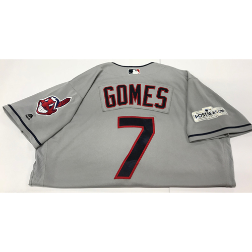 Photo of Yan Gomes Team-Issued 2017 Postseason Road Jersey