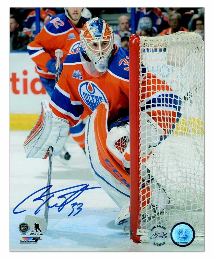 Cam Talbot Edmonton Oilers Autographed Final Game At Rexall Place 8x10 Photo