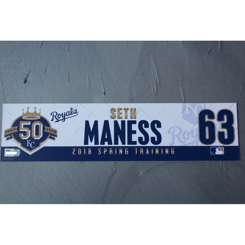 Photo of Spring Training Locker Nameplate: Seth Maness