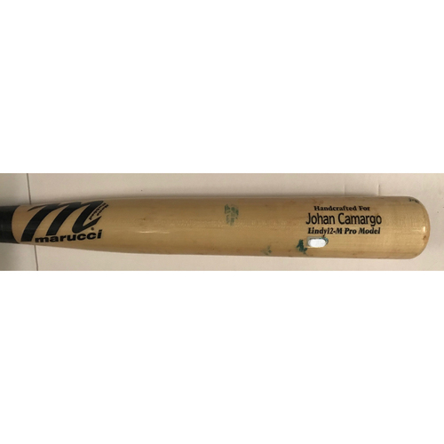 Photo of Johan Camargo Game-Used Cracked Bat - 9/4/2018