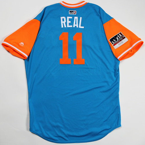 "Photo of JT ""Real"" Realmuto Miami Marlins Game-Used Jersey 2018 Players' Weekend Jersey"