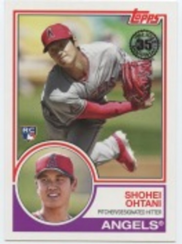 Photo of 2018 Topps Update '83 Topps #832 Shohei Ohtani