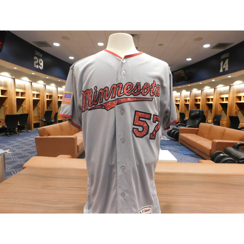 Photo of 2018 Ryan Pressly Game-Used Stars & Stripes Jersey