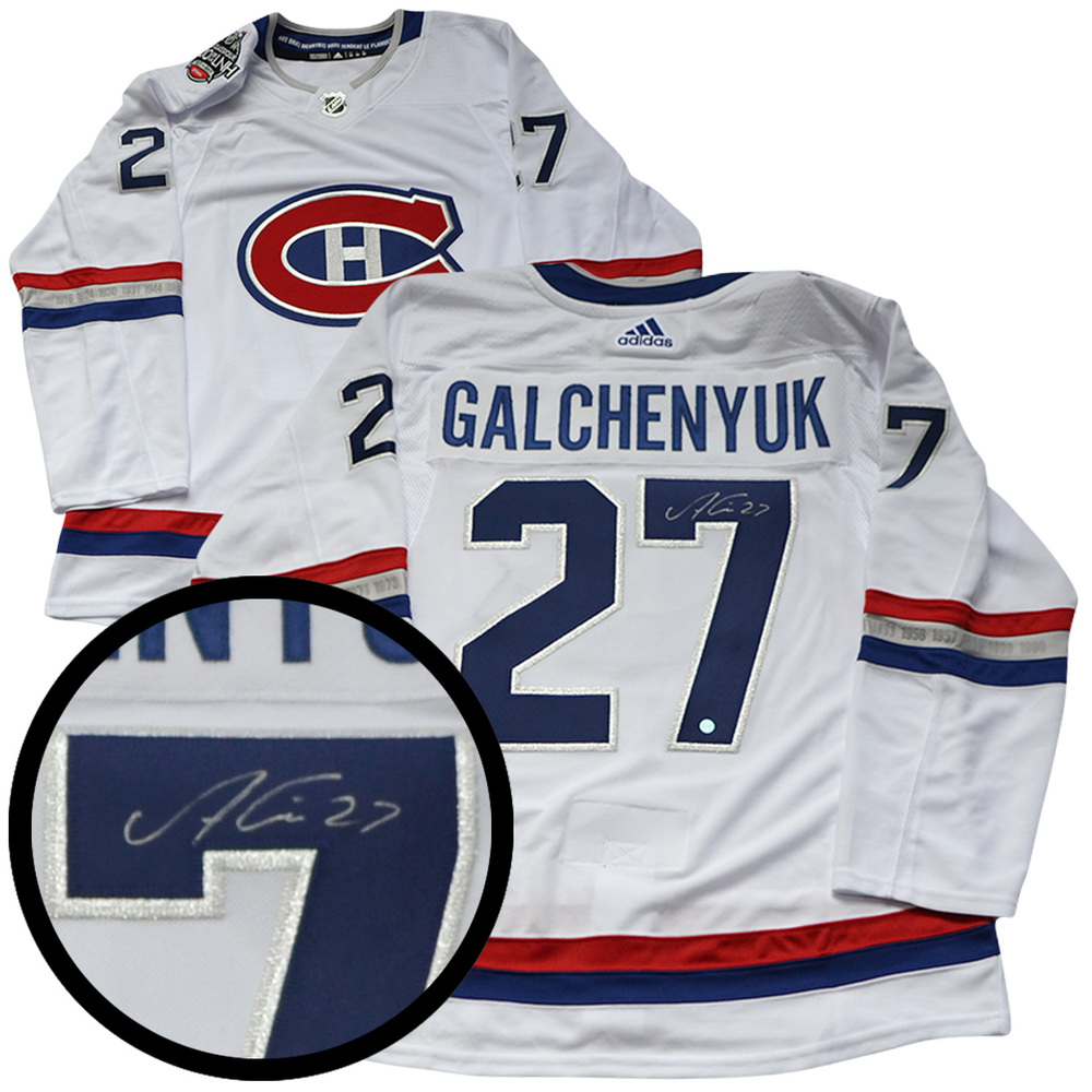 Galchenyuk,A Signed Jersey Canadiens Pro White Adidas NHL100 Classic