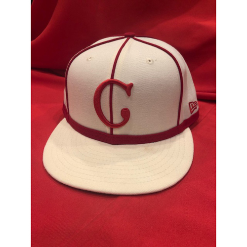 Photo of Eugenio Suarez -- 1902 Throwback Cap -- Game Used -- SF @ CIN on May 4, 2019