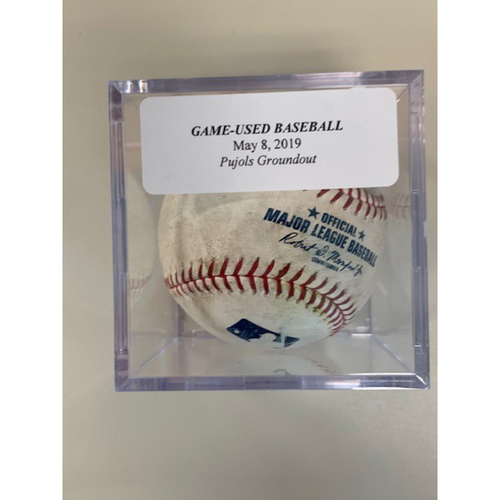Game-Used Baseball: Andrelton Simmons Single & Albert Pujols Ground Out