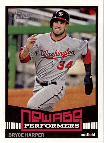Photo of 2015 Topps Heritage New Age Performers #NAP6 Bryce Harper