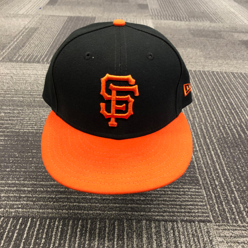 Photo of 2019 Team Issued Orange Bill Alternate Cap - #12 Joe Panik - size 7 1/4