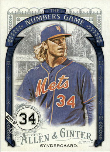 Photo of 2016 Topps Allen and Ginter The Numbers Game #NG1 Noah Syndergaard
