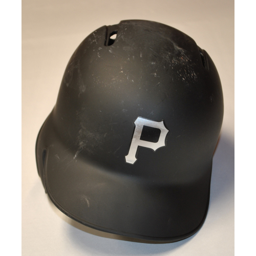 "Photo of Colin ""REDBEARD"" Moran Pittsburgh Pirates Game-Used 2019 Players' Weekend Helmet"