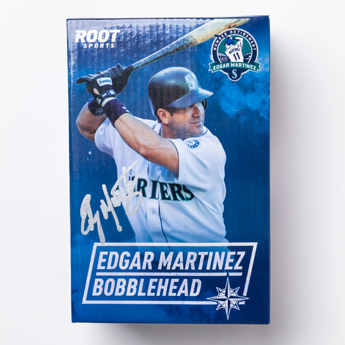 Mariners Care: Autographed Edgar Martinez Number Retirement Bobblehead