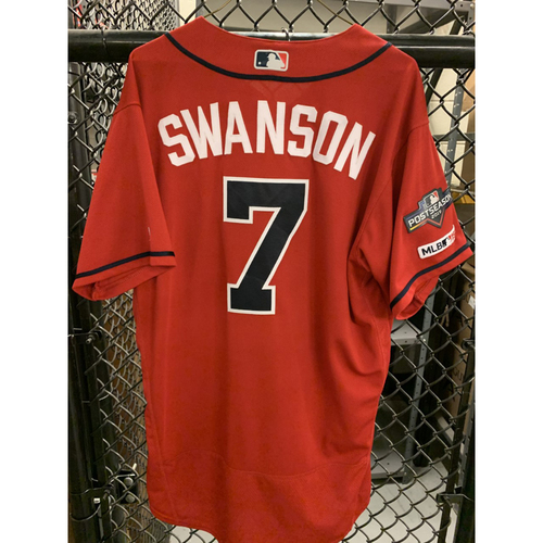 Dansby Swanson Game Used Jersey - Worn 4/12/19 - Size 46