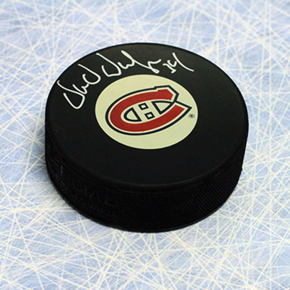 Donald Dufresne Montreal Canadiens Autographed Hockey Puck