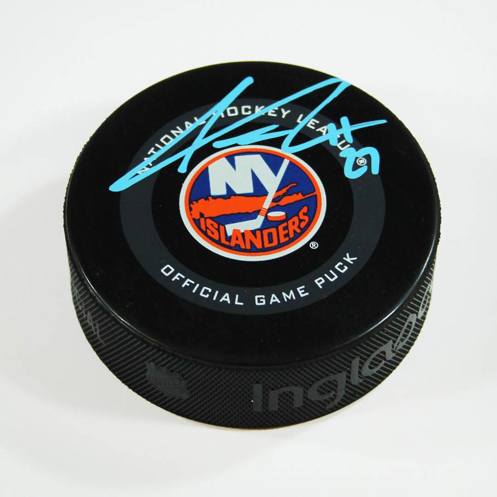 Anders Lee New York Islanders Autographed Game Model Hockey Puck