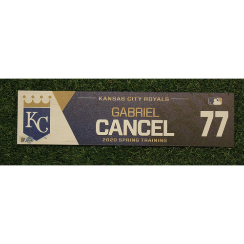 Photo of Game-Used Spring Training Locker Tag: Gabriel Cancel #77