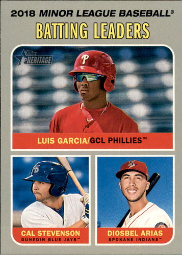 Photo of 2019 Topps Heritage Minors #191 Luis Garcia/Diosbel Arias/Cal Stevenson LL