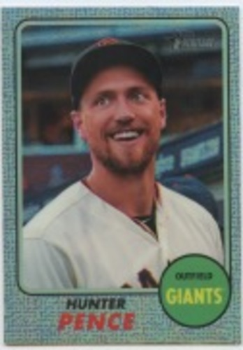 Photo of 2017 Topps Heritage Chrome Refractors #THC439 Hunter Pence