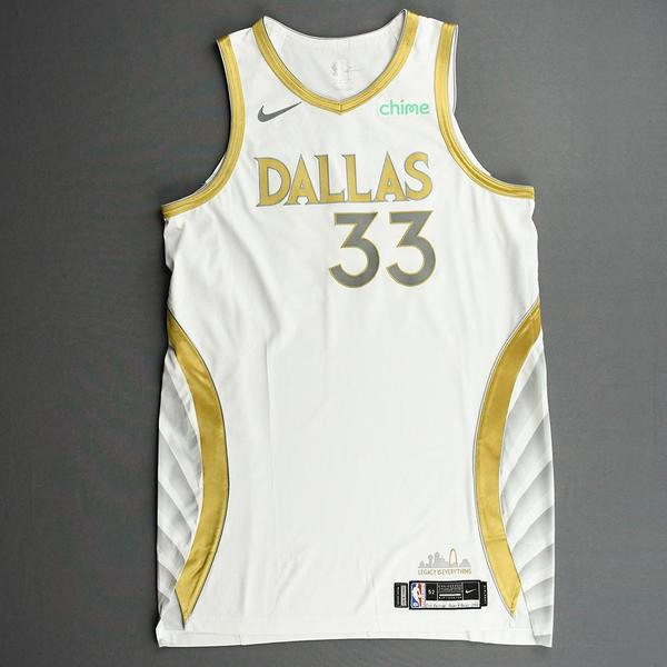 Image of Willie Cauley-Stein - Dallas Mavericks - Game-Worn - City Edition Jersey - Recorded a Double-Double - 2020-21 NBA Season