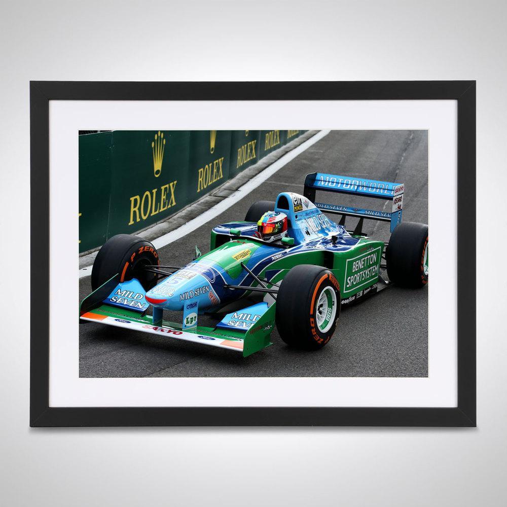 Mick Schumacher 2017 F3 Benetton Belgium - James Moy Print