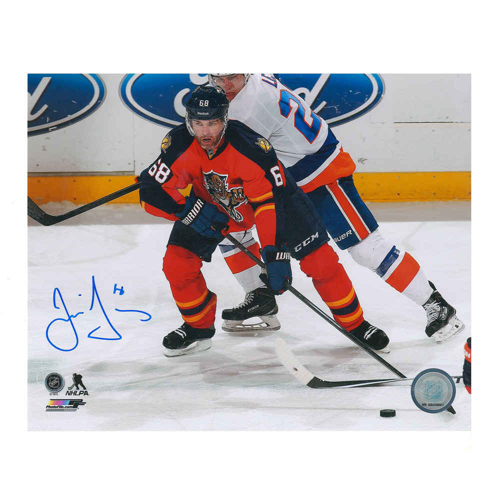 JAROMIR JAGR Signed Florida Panthers 8 X 10 Photo - 70309 A