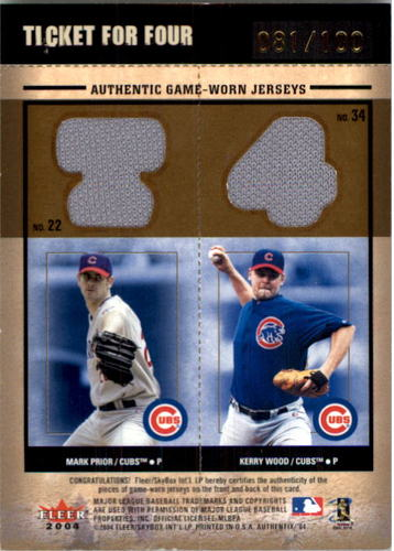 Photo of 2004 Fleer Authentix Ticket for Four #WBPW Willis/Beck/Prior/Wood