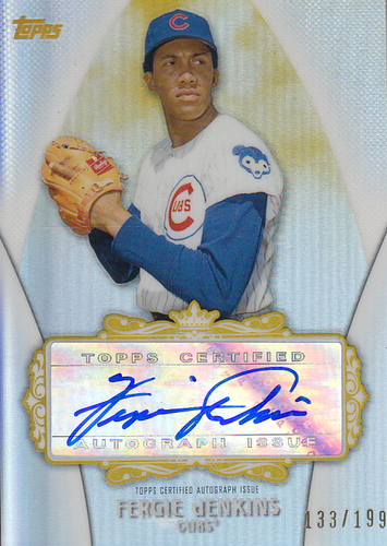 Photo of 2013 Topps Replacement Autographs Gold Refractors #FJ Fergie Jenkins