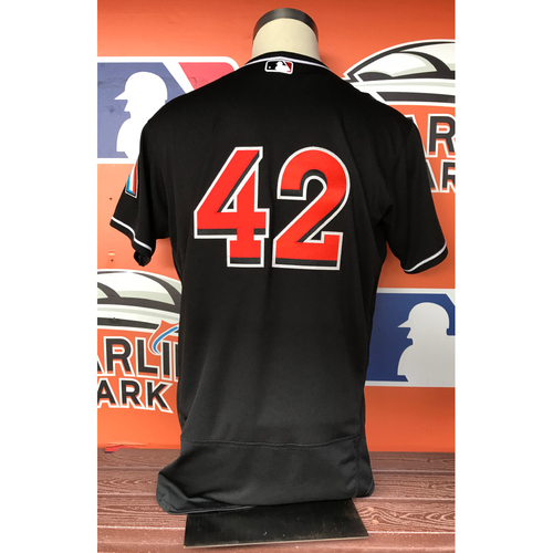 "Photo of Game-Used Jersey: Derek Dietrich 2017 ""42"" Jersey"