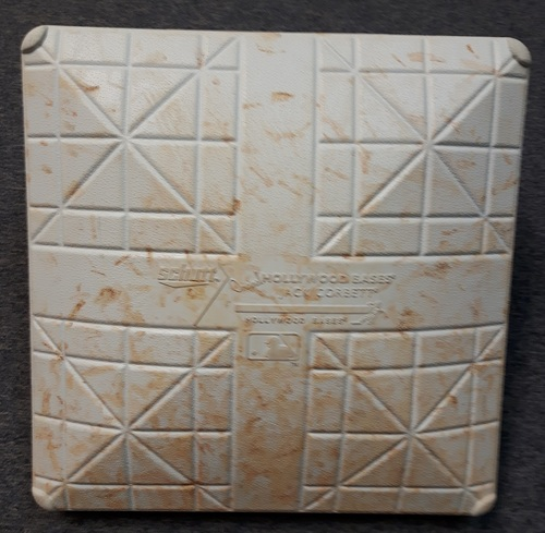 Photo of Authenticated Game Used Base - July 1, 2015. Canada Day (1st Base for Innings 1 to 5)