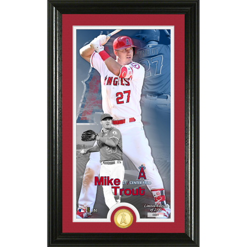 Photo of Serial #1! Mike Trout Supreme Bronze Coin Photo Mint
