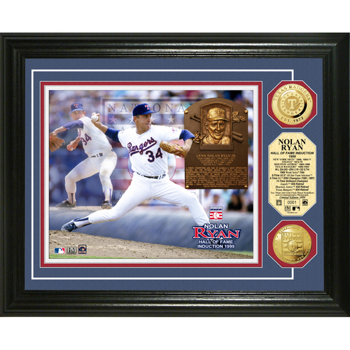 Photo of Nolan Ryan Baseball HOF Gold Coin Photo Mint