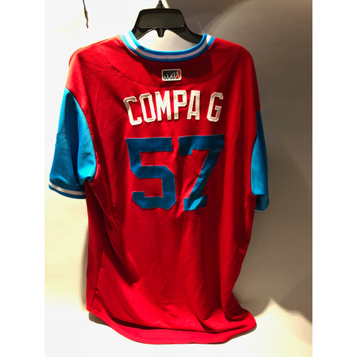 "Photo of Philadelphia Phillies 2018 Little League Classic Game-Used Jersey - Luis ""Compa G"" Garcia - 8/19/2018"