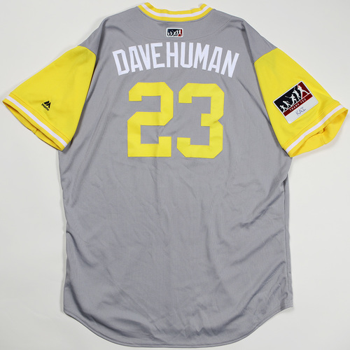 "Photo of David ""Dave Human"" Freese Pittsburgh Pirates Game-Used Jersey 2018 Players' Weekend Jersey"