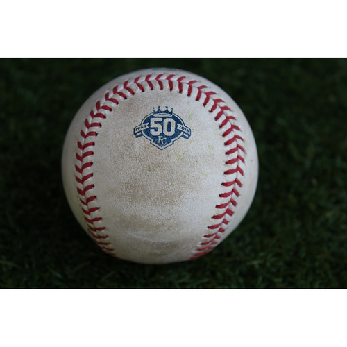 Photo of Game-Used Baseball: Joe Mauer 426th Career Double (MIN @ KC - 9/15/18)